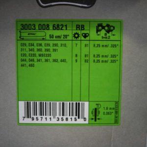 """Juhtplaat 20"""" 325 1,6mm 50cm"""