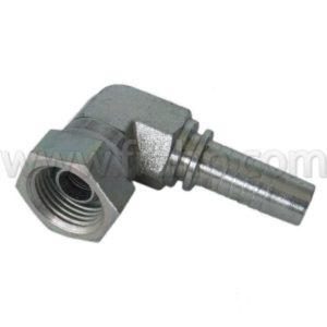 BSP 90º Swept Elbow 60º Cone Rolled Nut 1/4 1/4