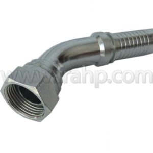 BSP 45º Swept Elbow 60º Cone Rolled Nut 1/4 1/4