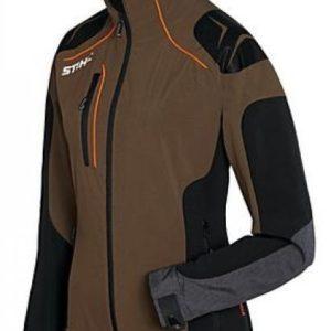 Metsatööjakk ADVANCE X-SHELL pruun naistele