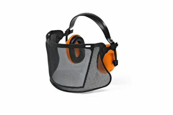 Kaitsevisiir ECONOMY plastvõrk kõrvaklappidega