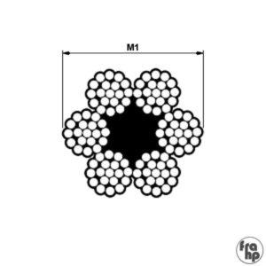 Metall tross 6×19+1